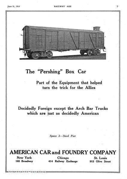 1919 American Car and Foundry.