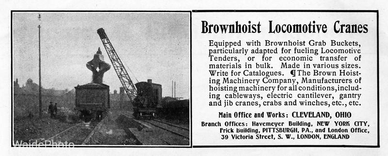1905 Brown Hoisting Machinery Company.