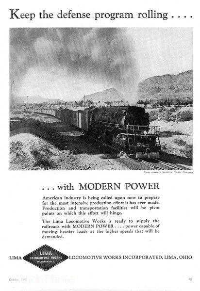 1940 Lima Locomotive Works.