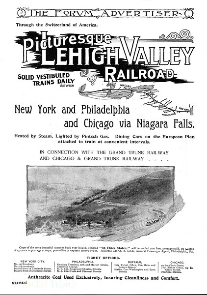 1894 Lehigh Valley Railroad.