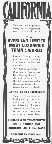 1920 Union Pacific, Chicago & North Western, and Southern Pacific.