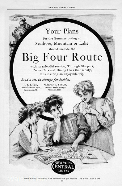 1906 Big Four Route, New York Central.