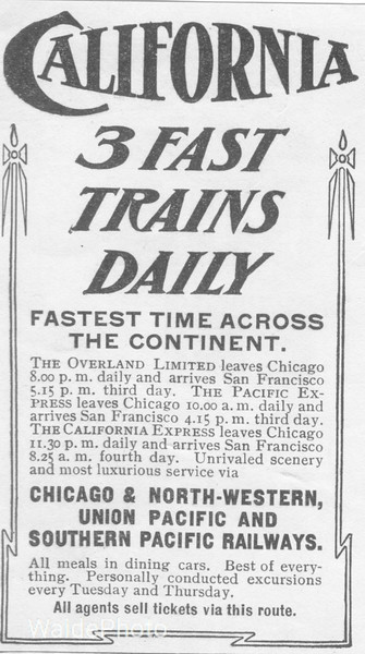 1900's Union Pacific, Southern Pacific, Chicago North Western.