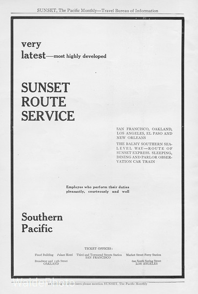 1912 Southern Pacific Railroad