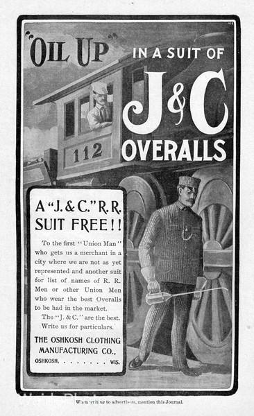 1904 Oshkosh Clothing Manufacturing Company.