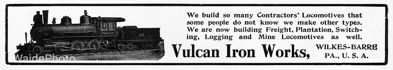 1900's (early) Vulcan Iron Works.