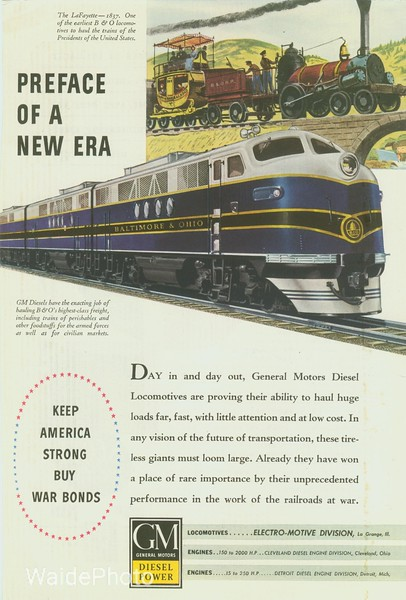 1940's  General Motor's Electro-Motive Division.