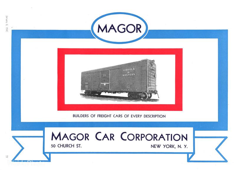 1940 Magor Car Corporation.