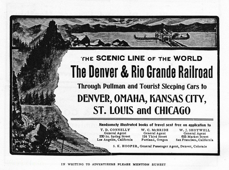 1905 Denver & Rio Grande Railroad.