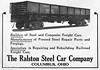 1923 Ralston Steel Car Company.