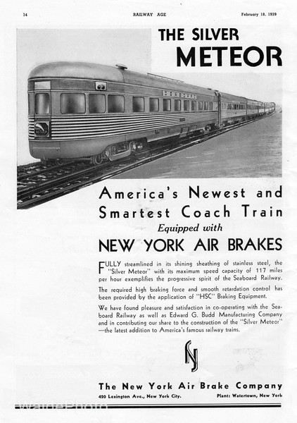 1939 New York Air Brake Company.