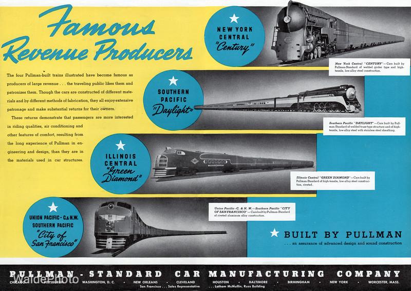1939 Pullman Standard Car Manufacturing Company.