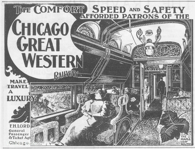 1896 Chicago Great Western Railway.