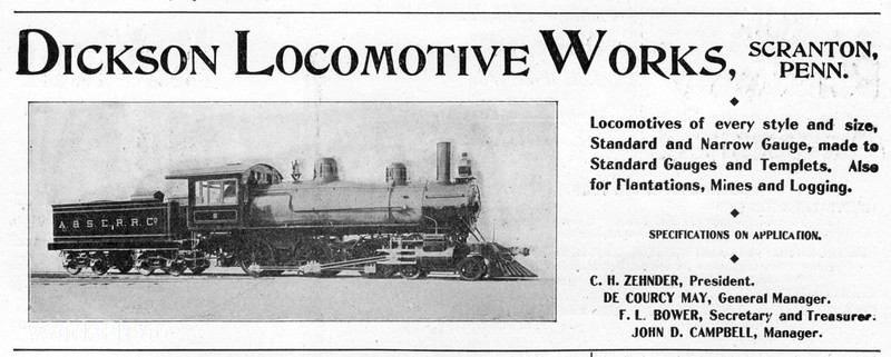 1899 Dickson Locomotive Works.<br /> <br /> Arizona Southeastern Railroad #6.