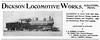 1899 Dickson Locomotive Works.<br /> <br /> Arizona Southeastern Railroad #6.