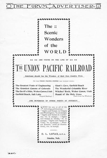 1894 Union Pacific Railroad.