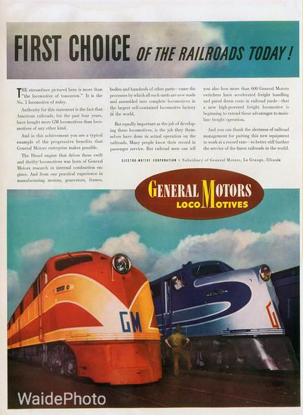 1941 General Motors and Electro Motive Division.
