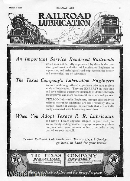 1922 The Texas Company,Texaco.