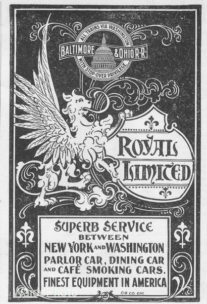 1899 Baltimore & Ohio advertisement.