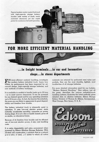 1941 Edison Storage Battery