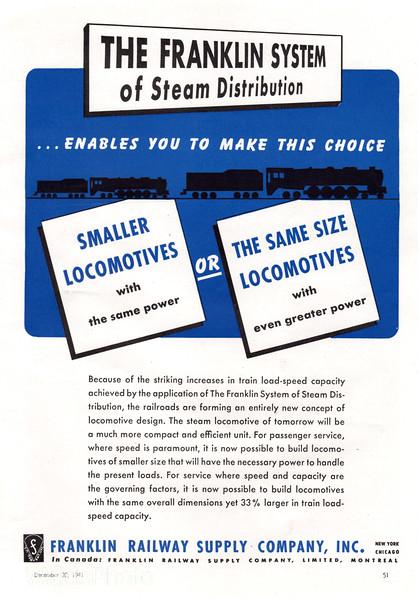 1941 Franklin Railway Supply Company.