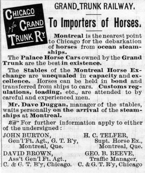 1890 Chicago & Grand Trunk Railway.