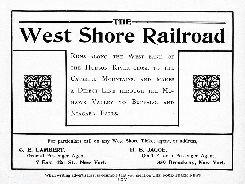 1903 West Shore Railroad.