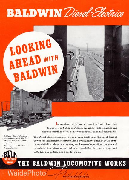 1941 Baldwin Locomotive Works.