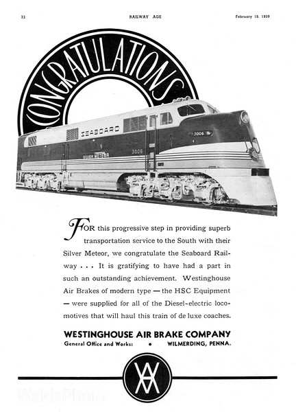 1939 Westinghouse Air Brake Company.