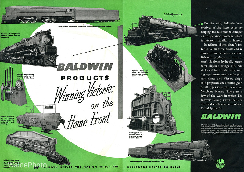 1940' Baldwin Locomotive Works.