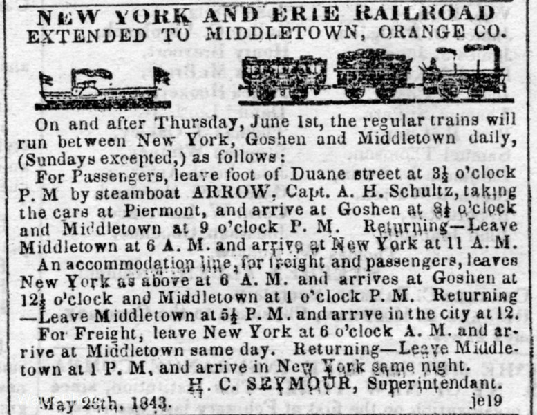 1843 New York & Erie Railroad.