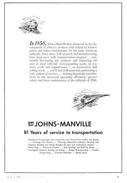 1940 Johns-Manville.