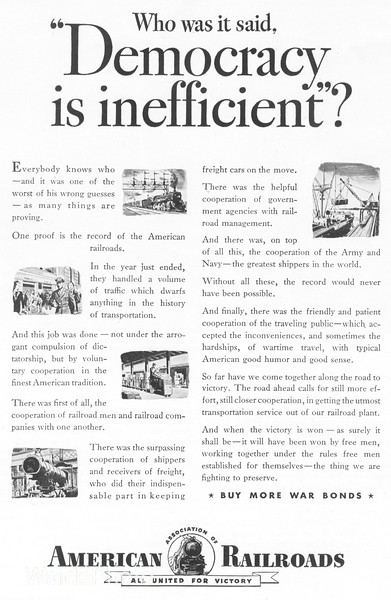 1940's Association of American Railroads.