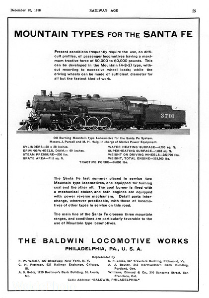 1918 Baldwin Locomotive Works.