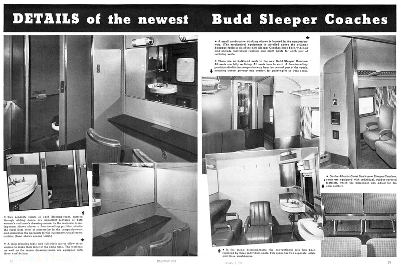 1941 Budd - Sleeper/Coach, Page 2 & 3 of 4.