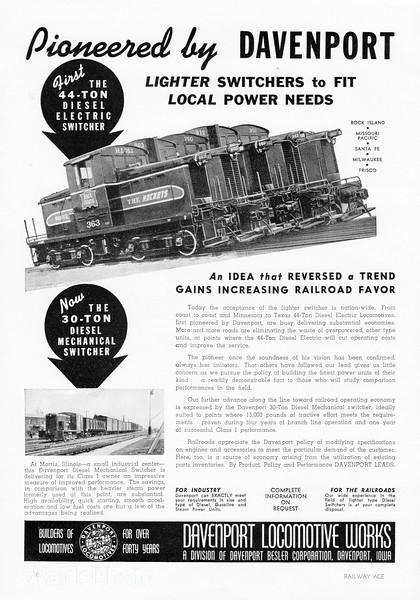 1941 Davenport Locomotive Works.