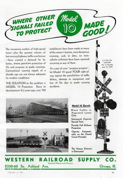 1940 Western Railroad Supply Company.