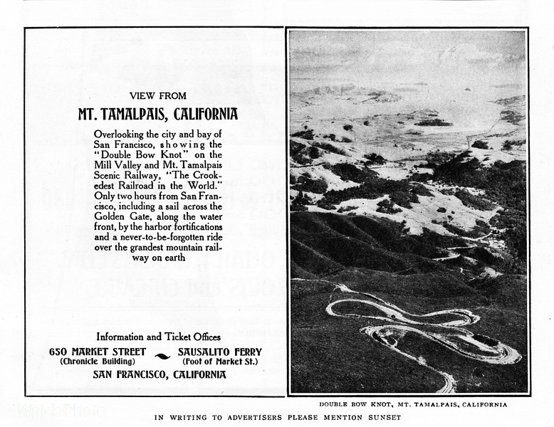 1905 Mill Valley and Mt. Tamalpais Scenic Railway.