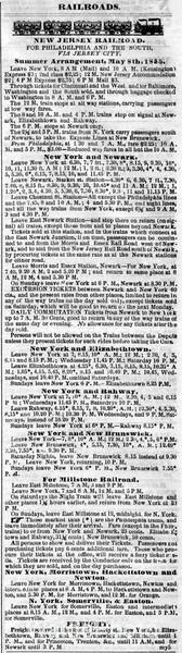 1855 New Jersey Railroad