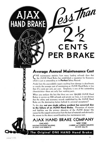 1941 Ajax Hand Brake Company.