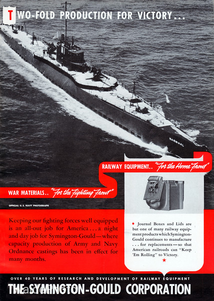 1940's Symington Gould Corporation.<br /> <br /> V-5 USS Narwhal.