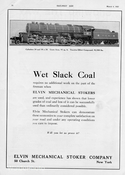 1922 Elvin Mechanical Stoker Company.