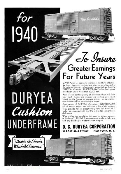 1940 O.C. Duryea Corporation.