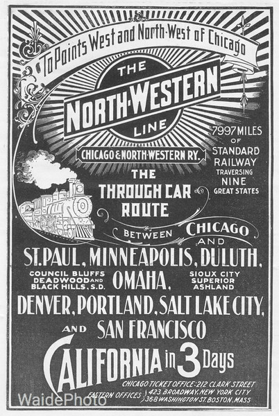 1898 Chicago Northwestern advertisement.