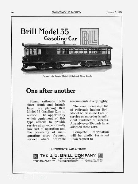 1924 J.G. Brill Company.