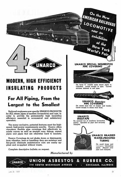 1939 Union Asbestos & Rubber Company.