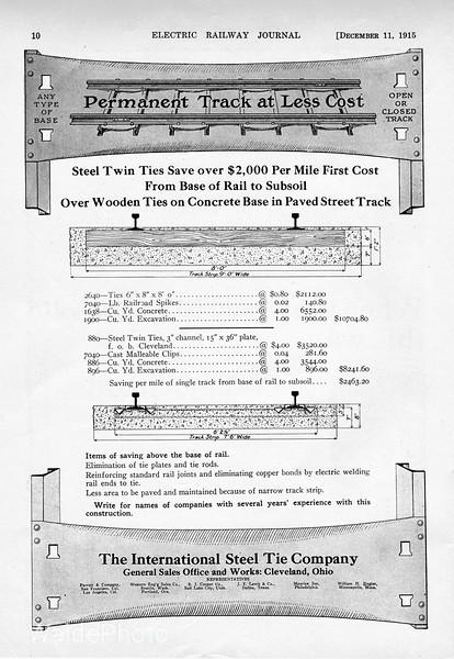 1915 International Steel Tie Company.