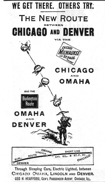1892 Milwaukee Road and Chicago, Burlington, & Quincy.