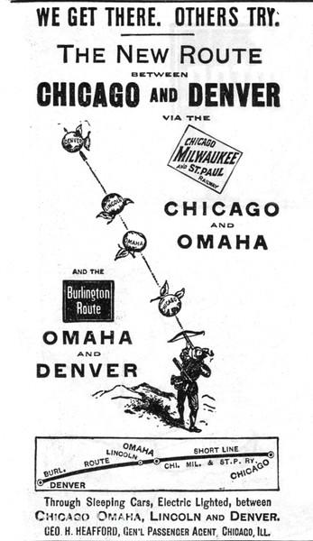1892 Milwaukee Road and Chicago, Burlington, & Quincy.