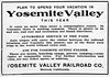 1914 Yosemite Valley Railroad.